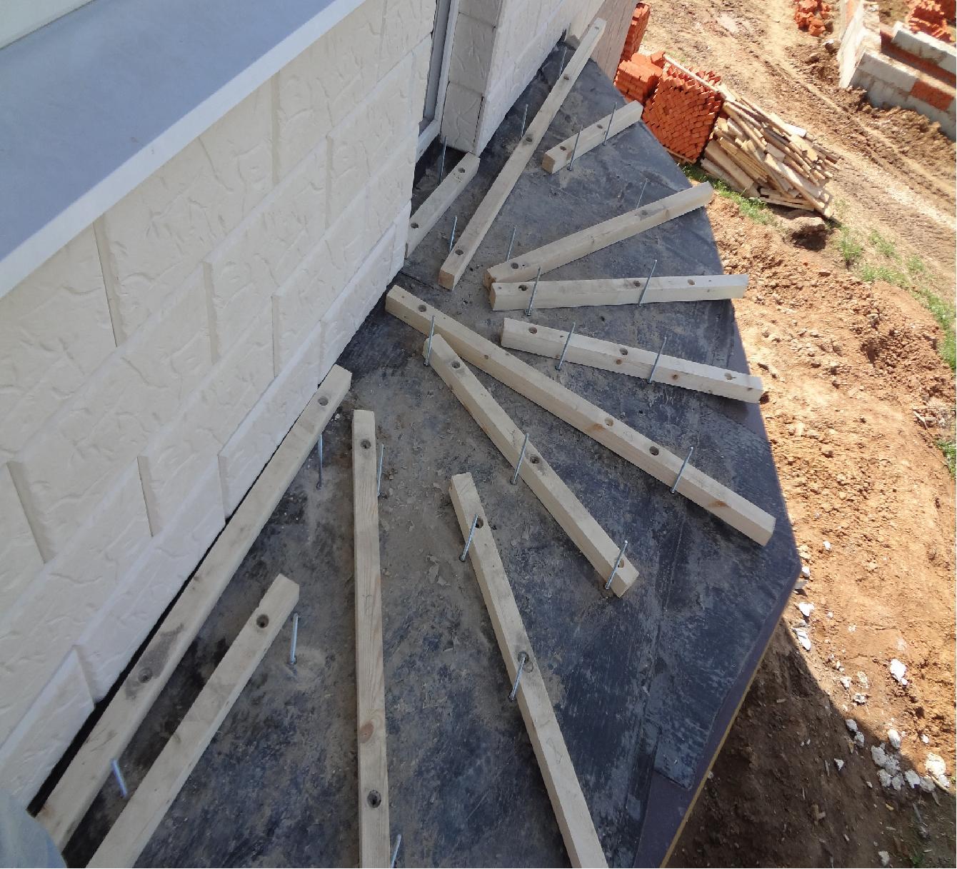 """""""пол без скрипа"""" - крепление лаг к бетонному полу москва, мо."""